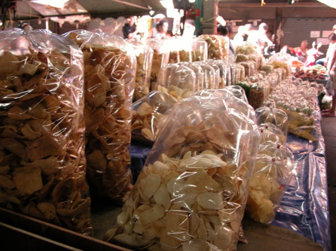 Many foods are put into cellophane bags then puffed up with air.