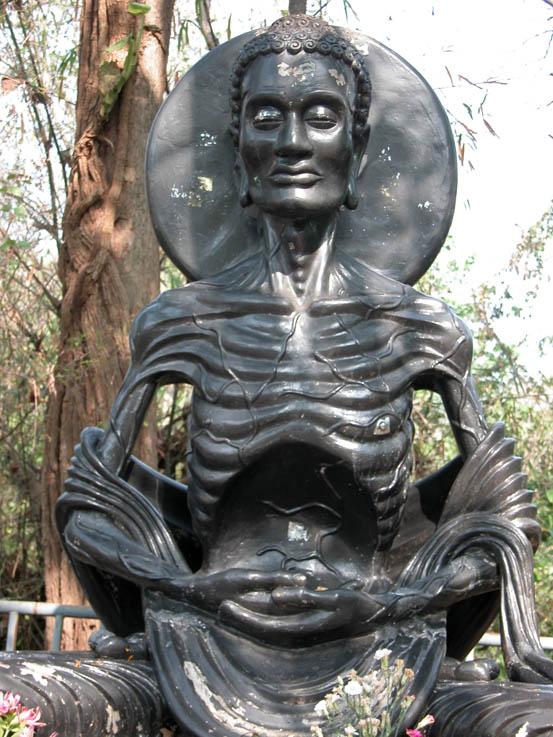 Emaciated Buddha, Wat Umong, Chiang Mai