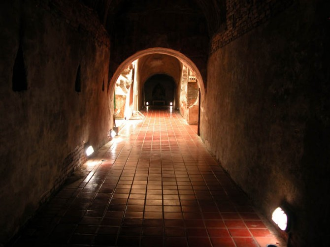 One of the tunnels (umongs) at Wat Umong, Chiang Mai