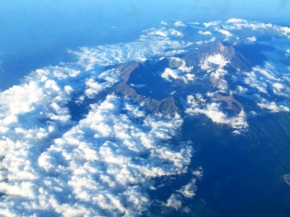 The volcano we flew over.