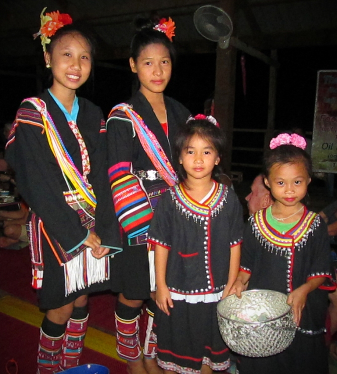 Some beautiful young local girls who danced at the farewell dinner.