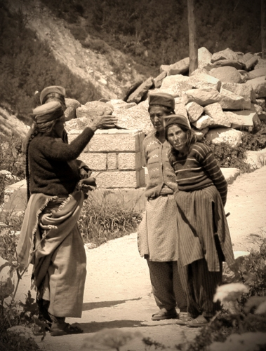 A casual committee meeting. Chitkul, Himalayas.