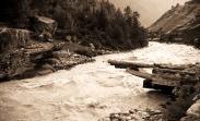 The bridge that is no longer. Chitkul, Himalayas.