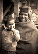 Chitkul woman and child. Chitkul, Himalayas.