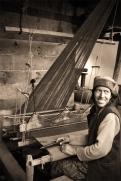 Chitkul woman at her loom. Chitkul, Himalayas.