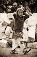 Schoolboy. Chitkul, Himalayas.
