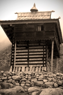 The King's house. Chitkul, Himalayas.
