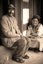 Our wonderful hosts - Raj and Suk. Chitkul, Himalayas.