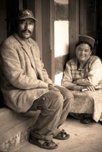 Our wonderful hosts - Raj and Suk. Chitkul, Himalayas.