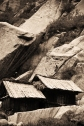 Local storehouses. Chitkul, Himalayas.