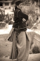 Taken at Sangla, down the mountain from Chitkul. Note the pleated blanket she wears around her waist. Sangla, Himalayas.