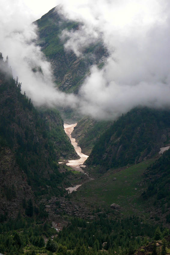 Yup, that's a glacier. We went past several of these. Sangla District, Himalayas.