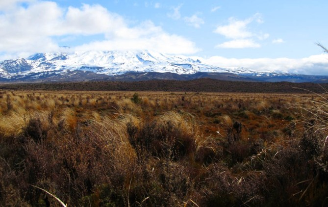 Taken on Desert Road, central North Island, New Zealand. This is Mount Ruapehu, one of three peaks in the area and the most eruptive. In Maori legend, Ruapehu is considered to the the female of the three peaks. I'm sure these two things are in no way connected...
