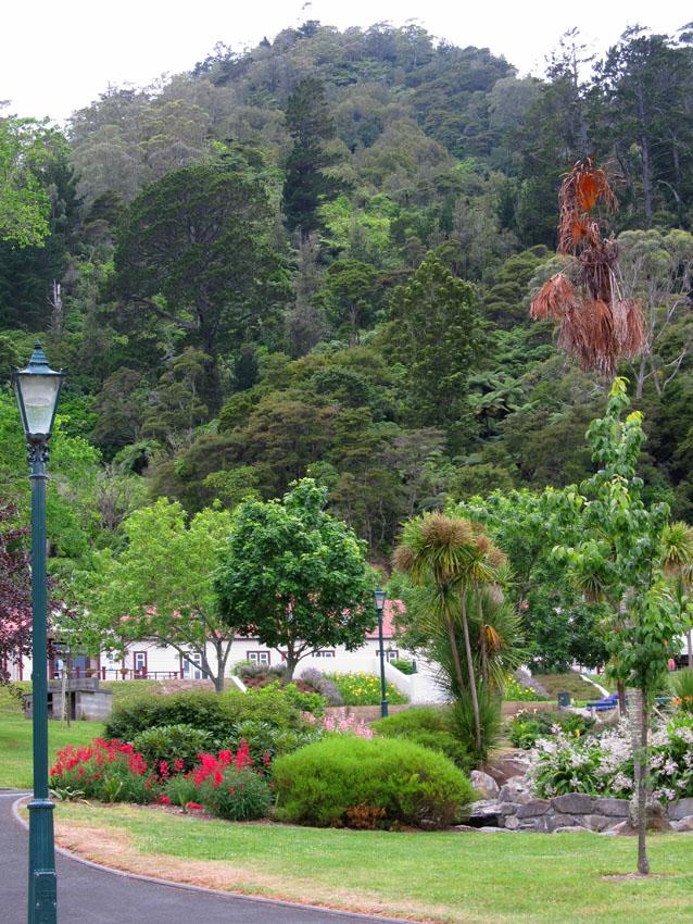 The Domain at the base of Mount Te Aroha, North Island, New Zealand.