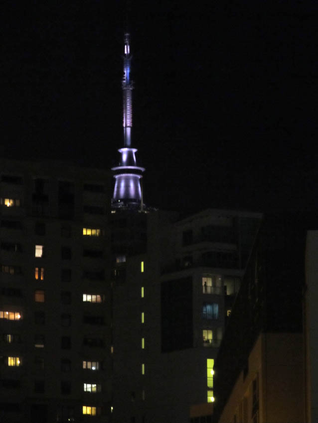 The Skytower - iconic structure in Auckland City, North Island.
