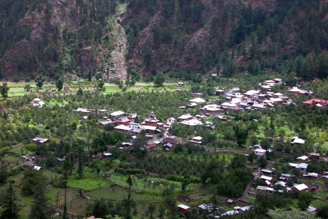 The village of Sangla.