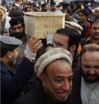 Unimaginable grief as children are carried away in coffins.