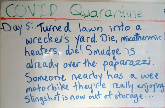Day 5 whiteboard
