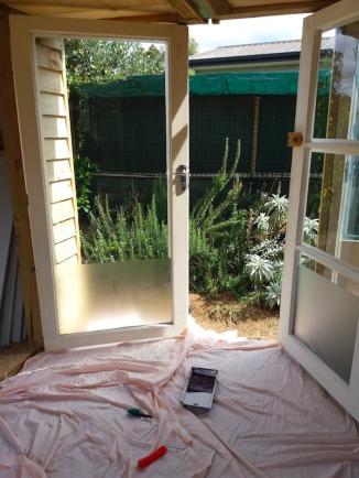 Both doors before painting